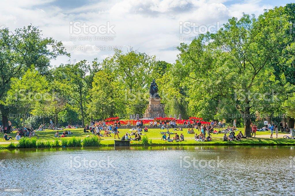 Vondelpark, Amsterdam, Netherlands stock photo