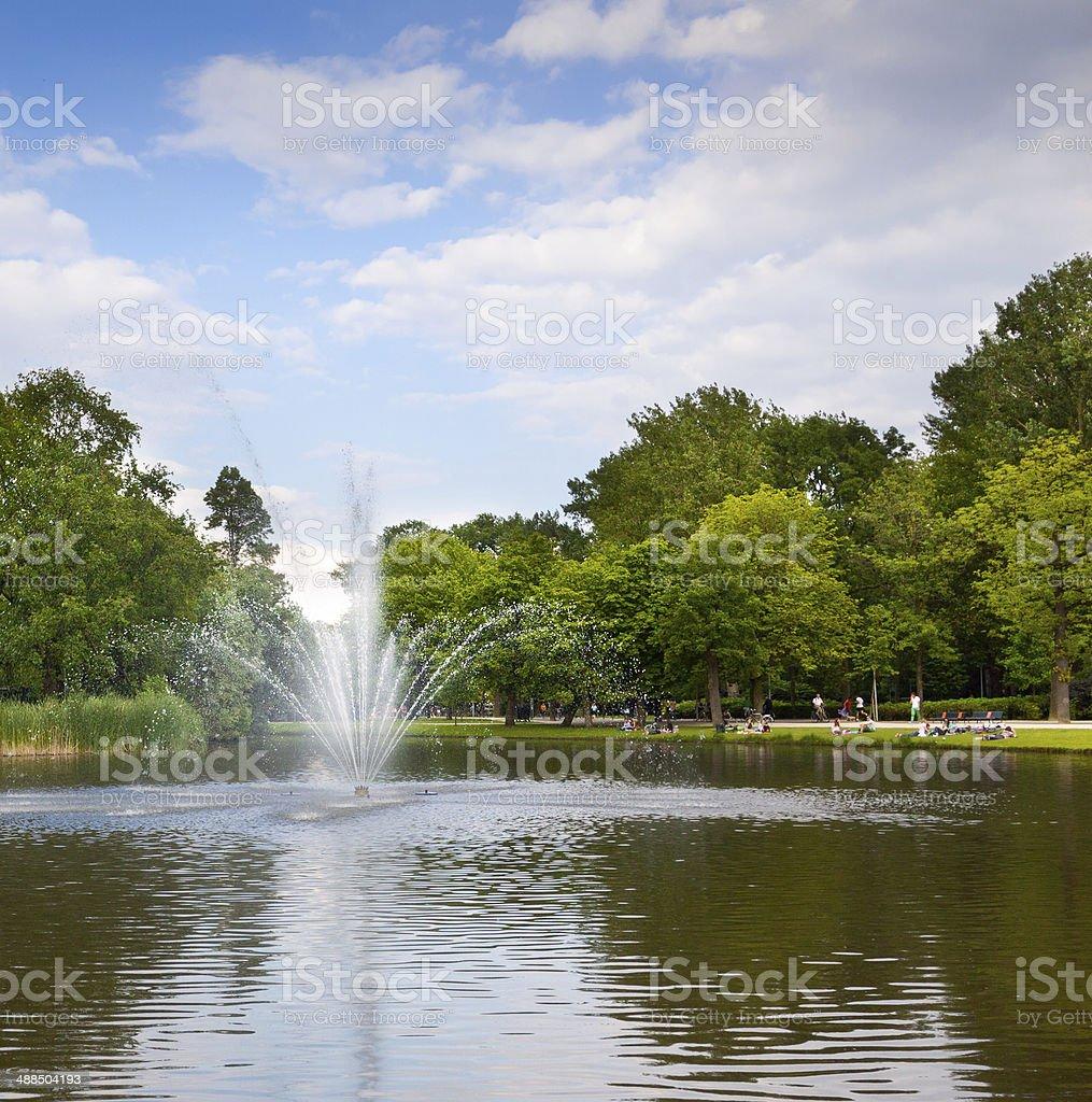 Vondelpark, Amsterdam. stock photo