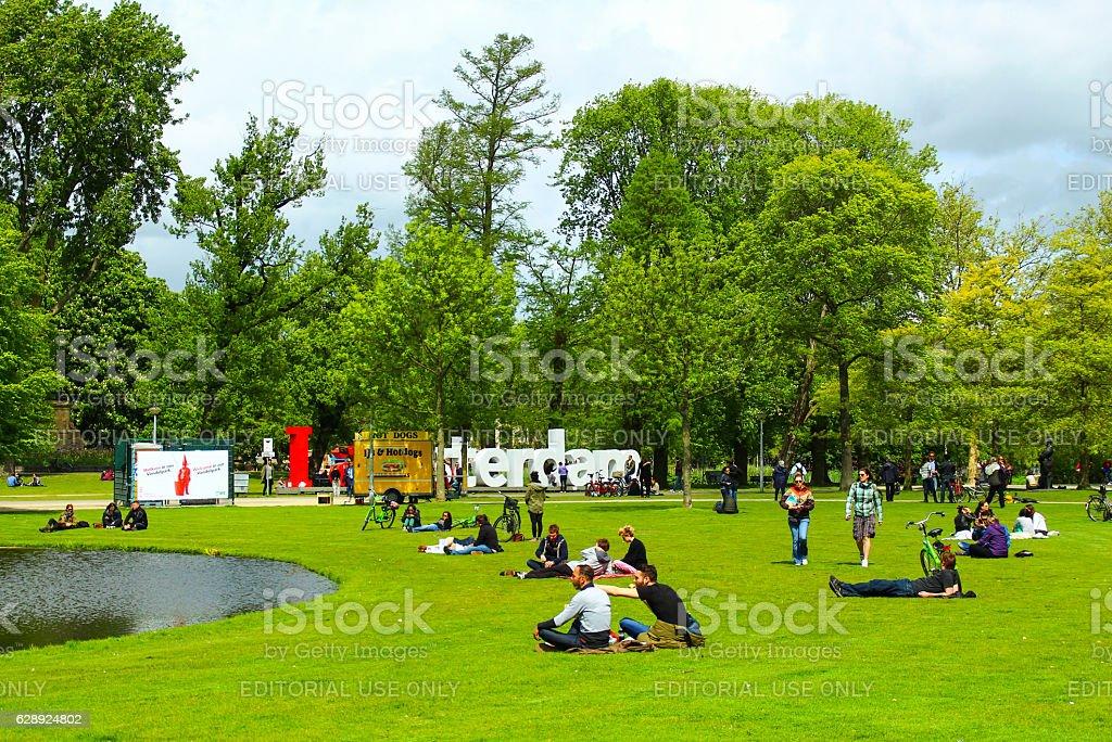Vondelpark stock photo