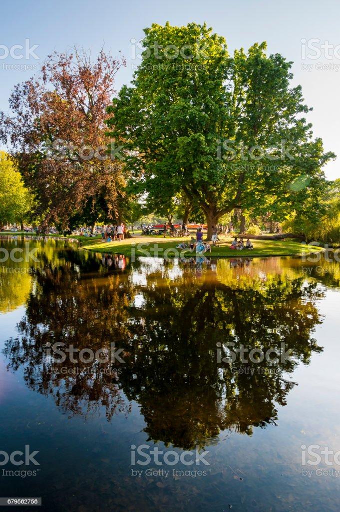 Vondelpark Water Reflection stock photo