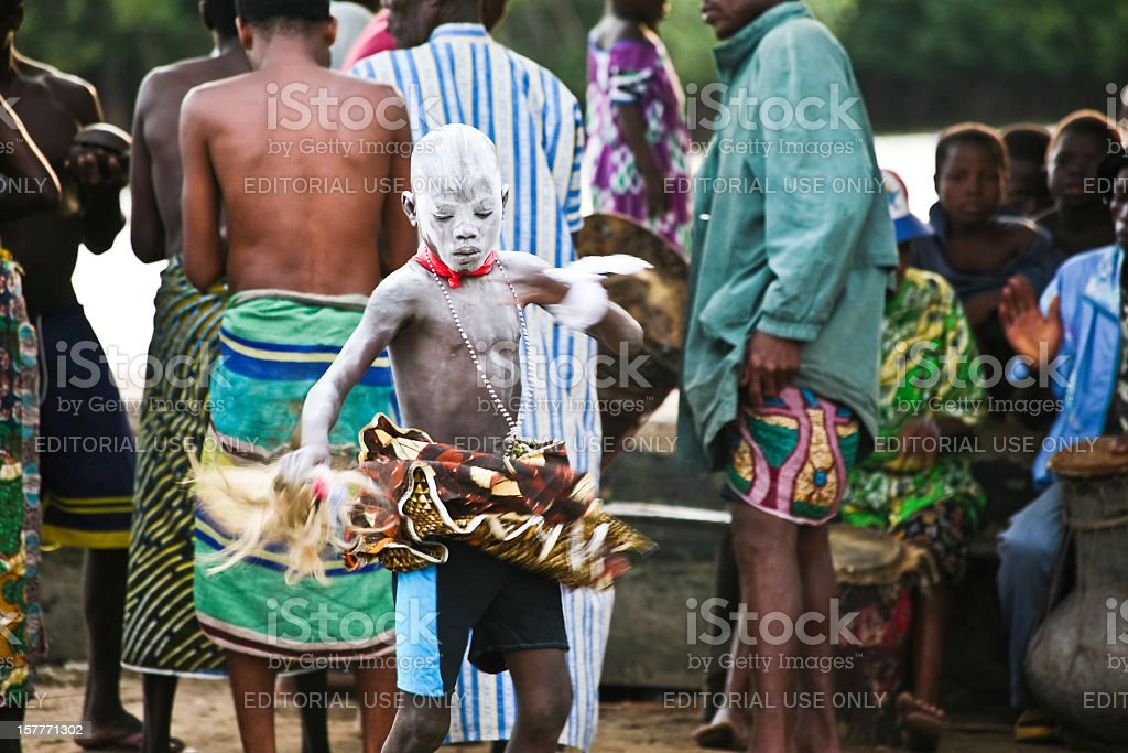 Voodoo ceremony. royalty-free stock photo