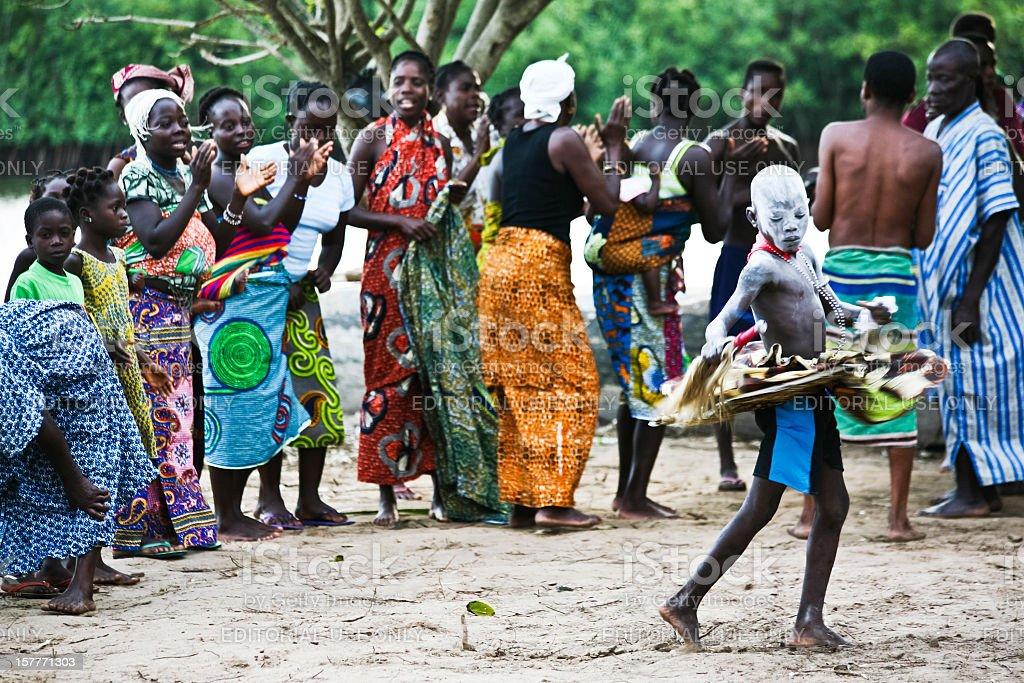 Voodoo ceremony. stock photo