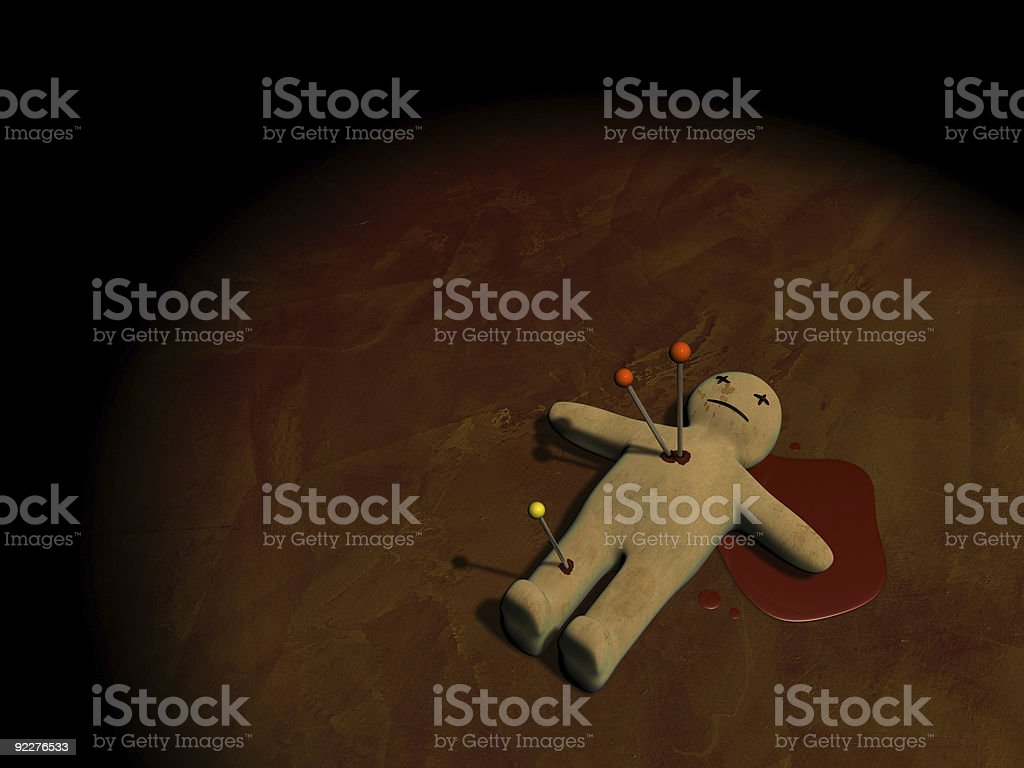 Voodoo doll in 3D royalty-free stock photo