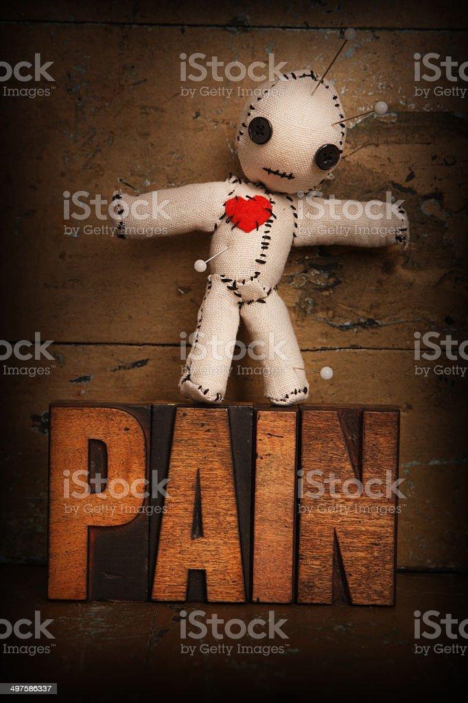Voodoo Doll Pain stock photo