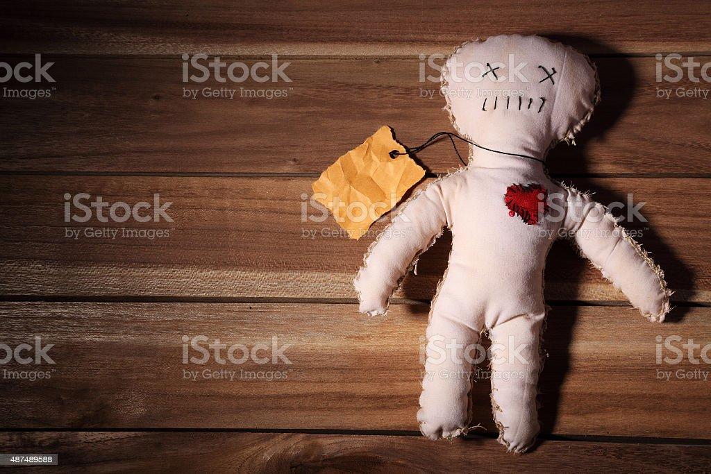 Voodoo doll stock photo