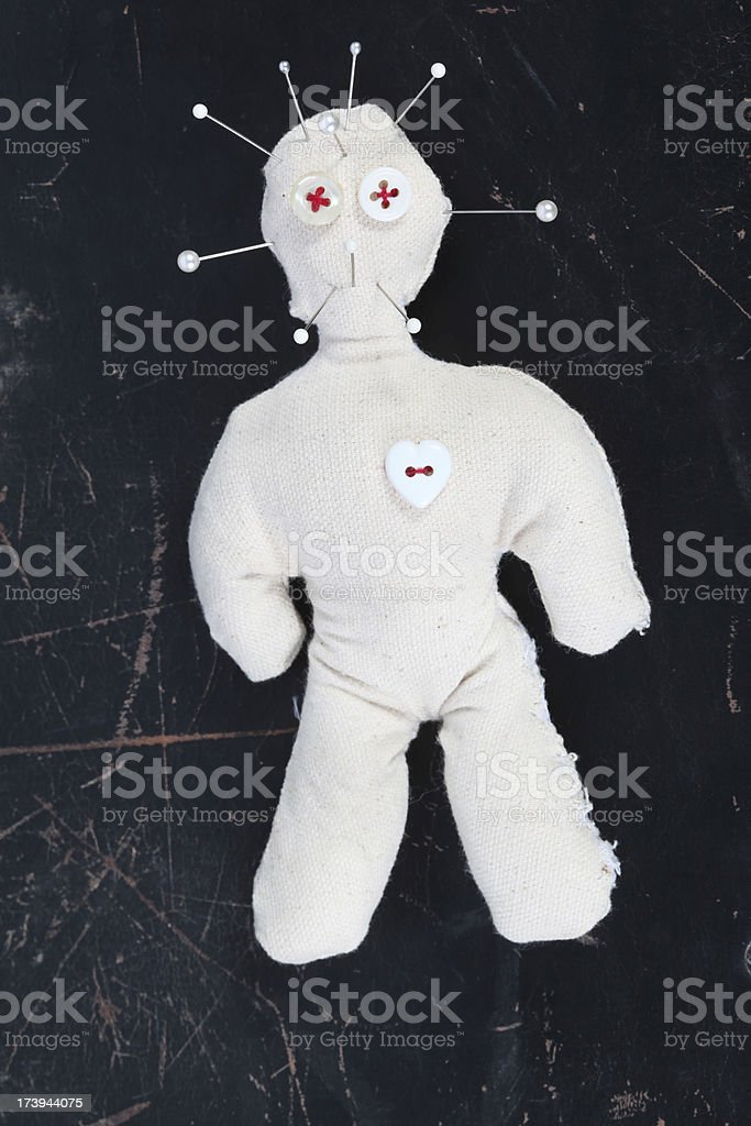 Voodoo Doll with needles royalty-free stock photo