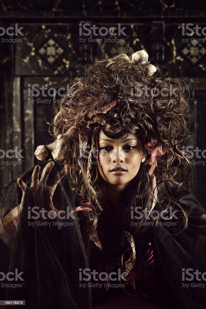 Voodoo woman royalty-free stock photo