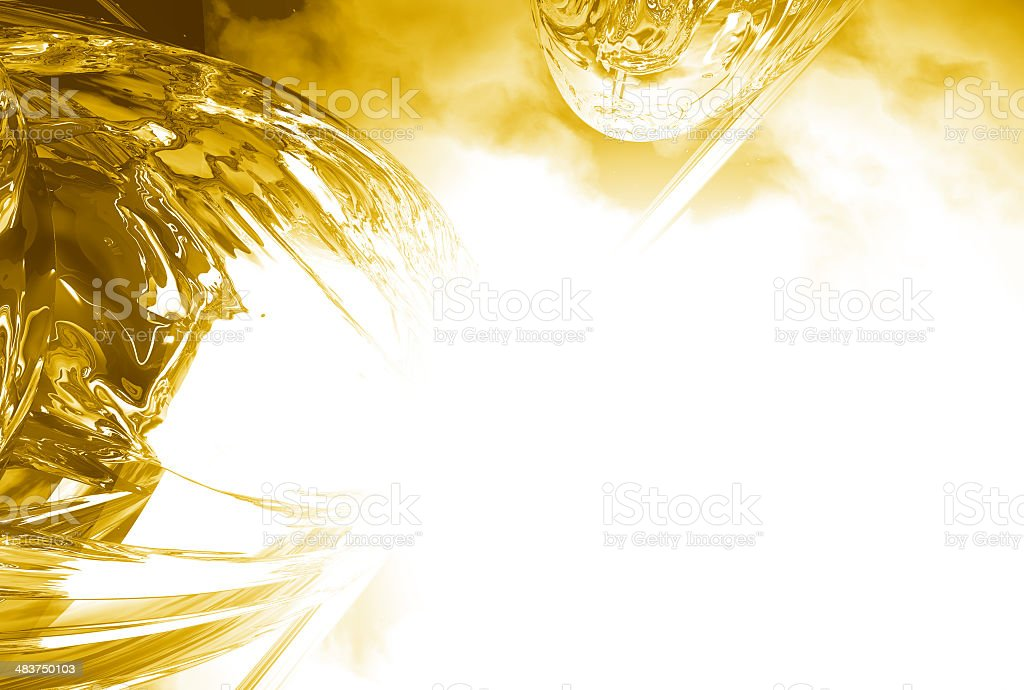 Voom 02 Gold royalty-free stock photo