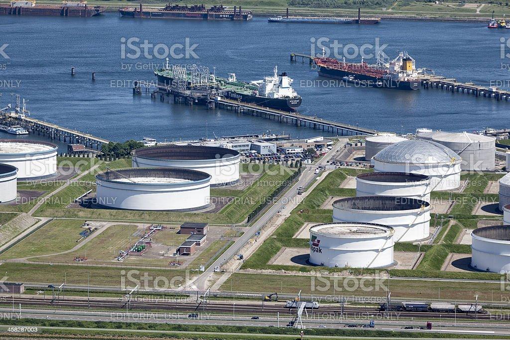 Vopak Oil storage tank aerial royalty-free stock photo