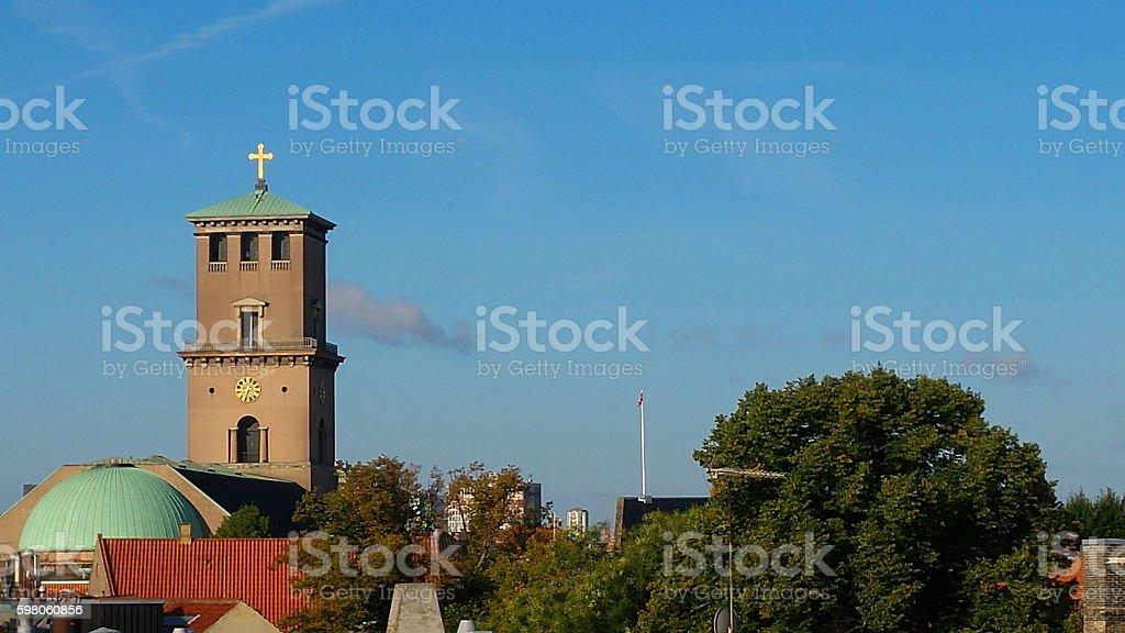 Vor Frue Kirke - Copenhagen stock photo