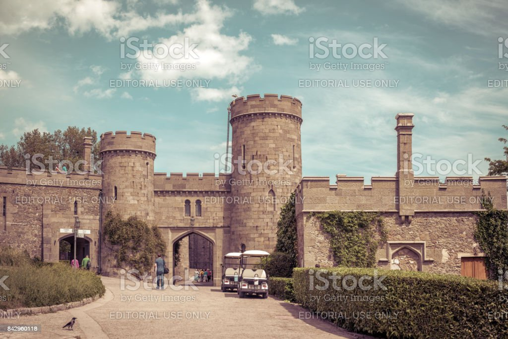Vorontsov Palace in Crimea stock photo