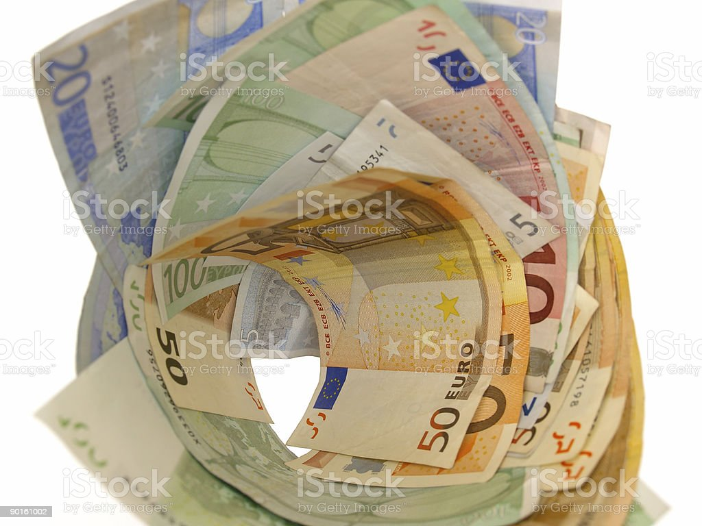 vortex euro money royalty-free stock photo