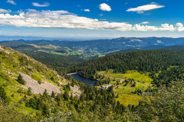 Vosges mountains in summer, France stock photo