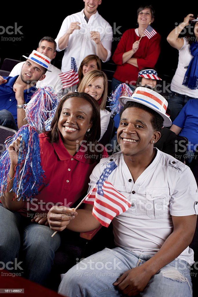 Vote: American Campaign Election Political Rally United Supporters royalty-free stock photo