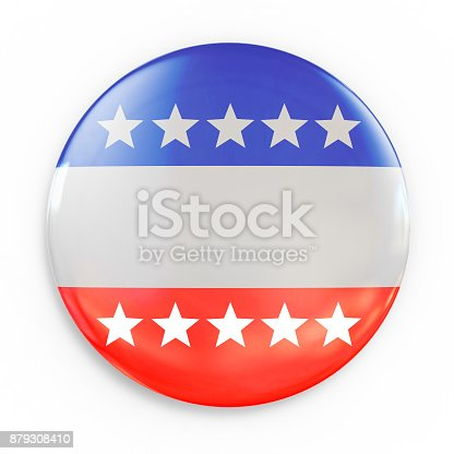 istock Vote badge 3d isolated illustration 879308410