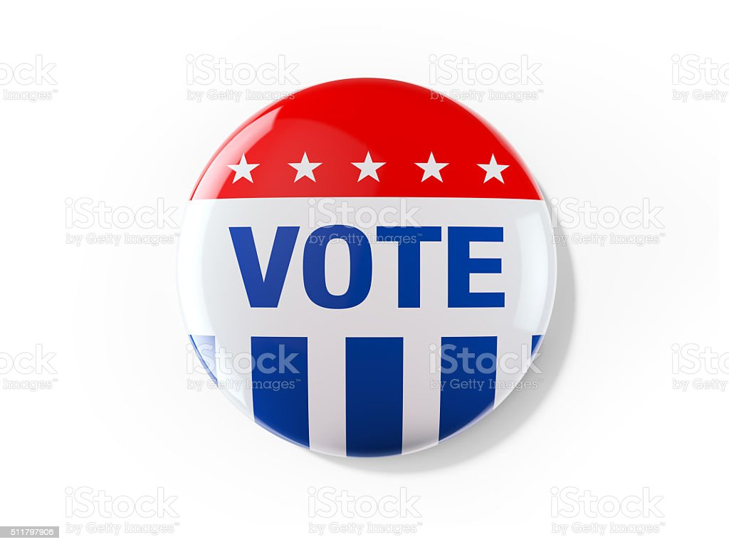 Vote Badge For Elections In USA stock photo