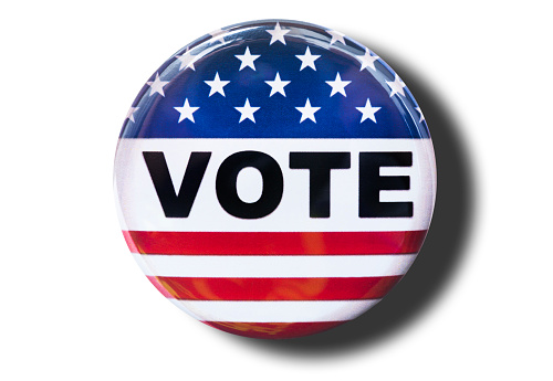 vote badge on white background