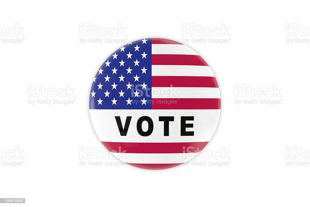 Vote Badge royalty-free stock photo