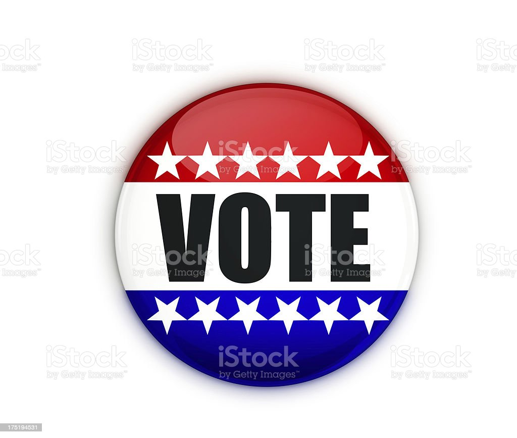 Vote Badge royalty-free stock photo