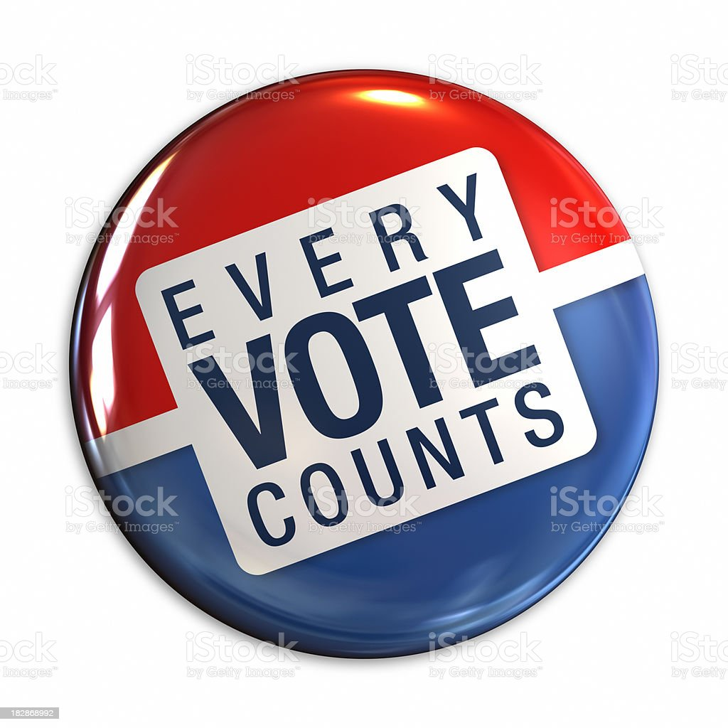 Vote badge stock photo