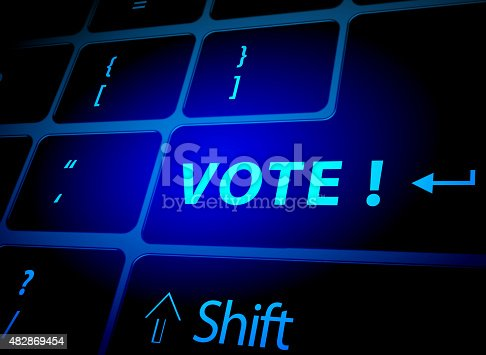 Vote button on computer keyboard