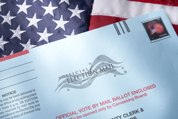 Vote by mail:  absentee ballot for voting stock photo
