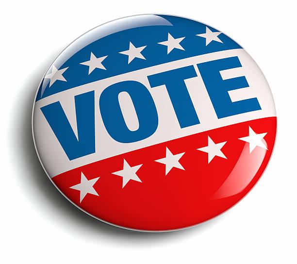 votación de campaña - botón de campaña política fotografías e imágenes de stock