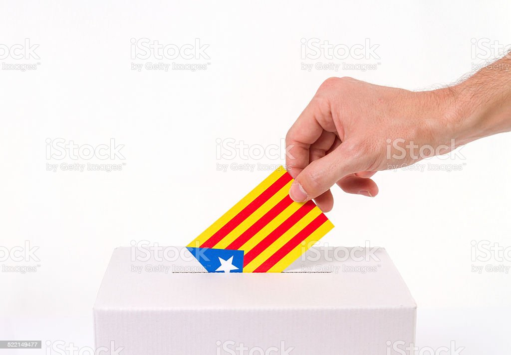 Vote catalonia independence stock photo