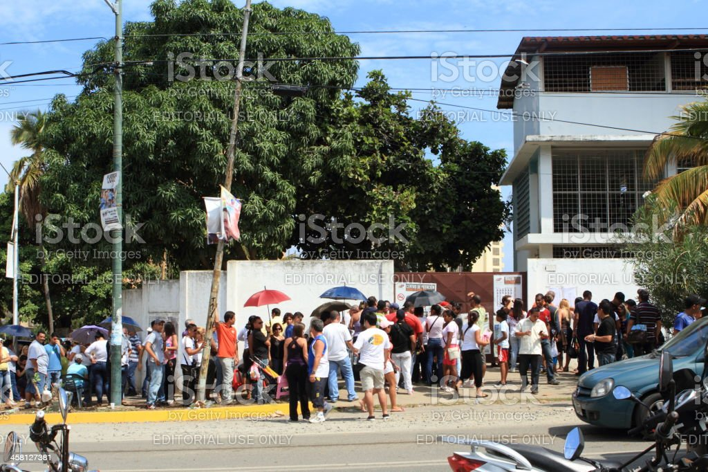 Vote Center for Presidential elections in Venezuela royalty-free stock photo