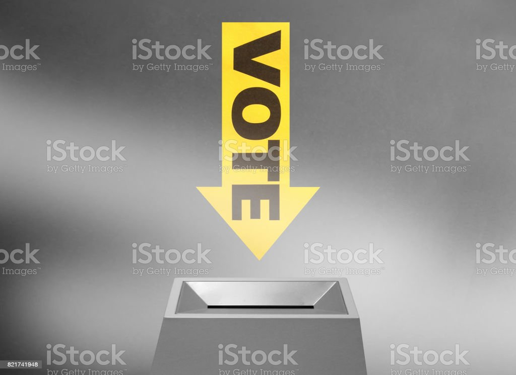 Vote concept stock photo