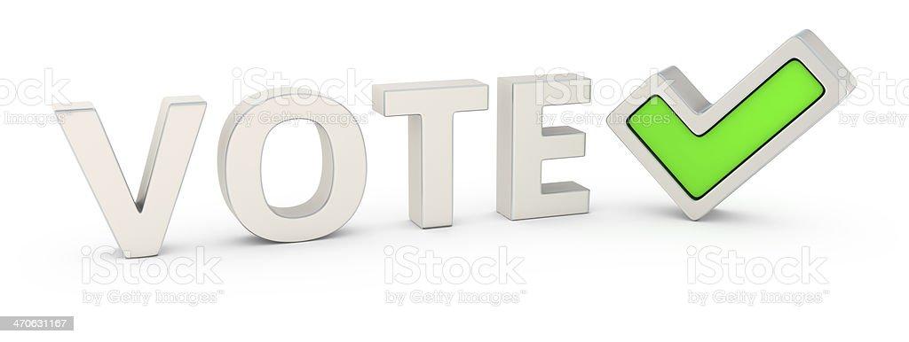 Vote correctly royalty-free stock photo