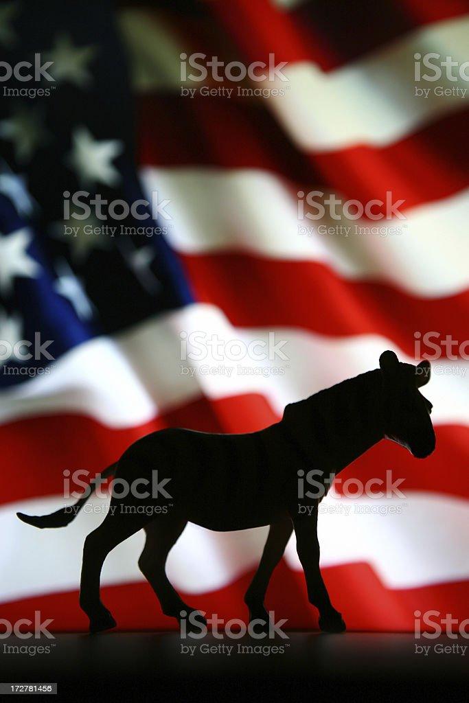 Vote Democrat royalty-free stock photo