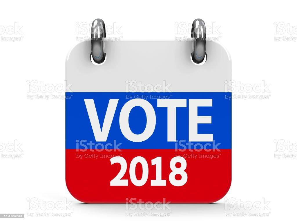 Vote election 2018 icon calendar stock photo