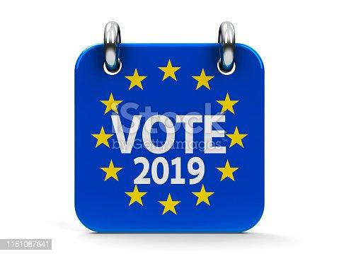 1126684642 istock photo Vote election 2019 icon calendar 1151087641