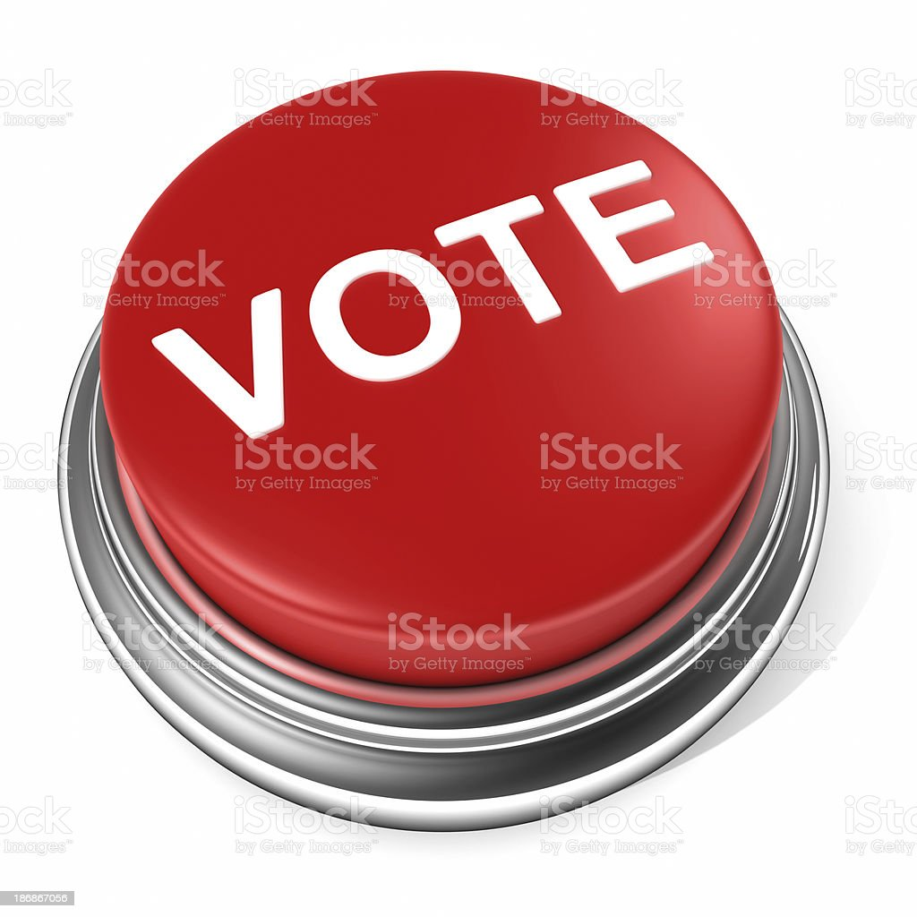vote Election button stock photo