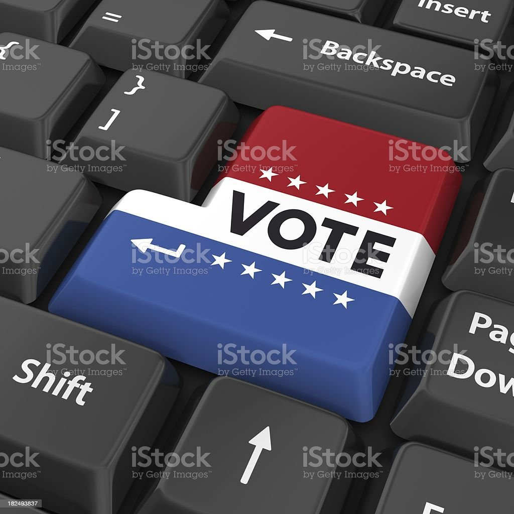 vote enter button royalty-free stock photo