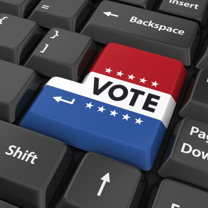 Vote Enter Button Stock Photo - Download Image Now