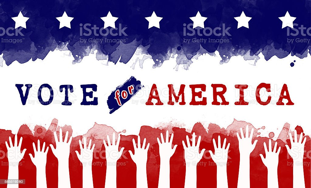 vote for America, election concept stock photo