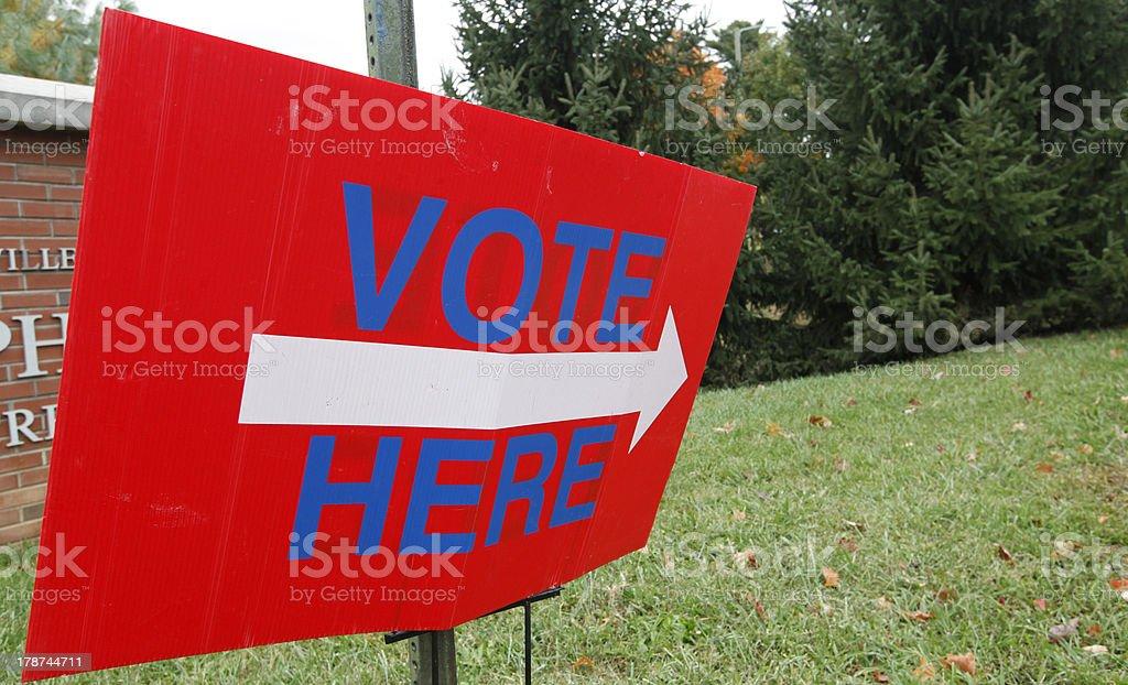 Vote Here stock photo