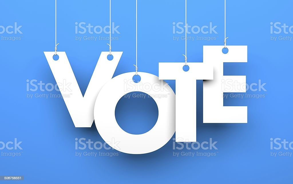 Vote metaphor stock photo
