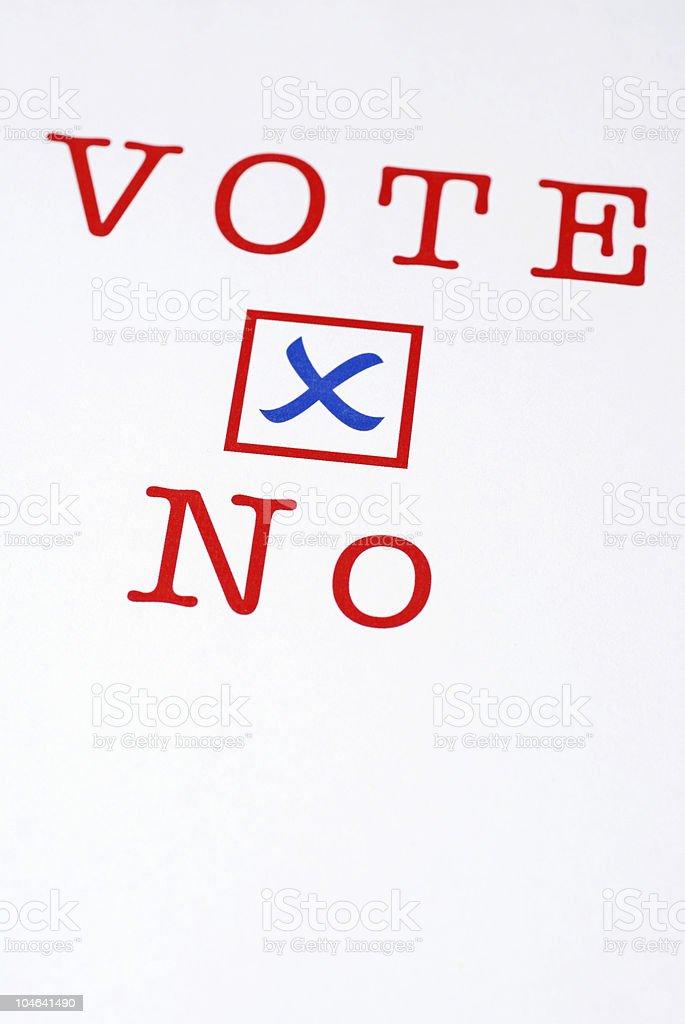 Vote No royalty-free stock photo