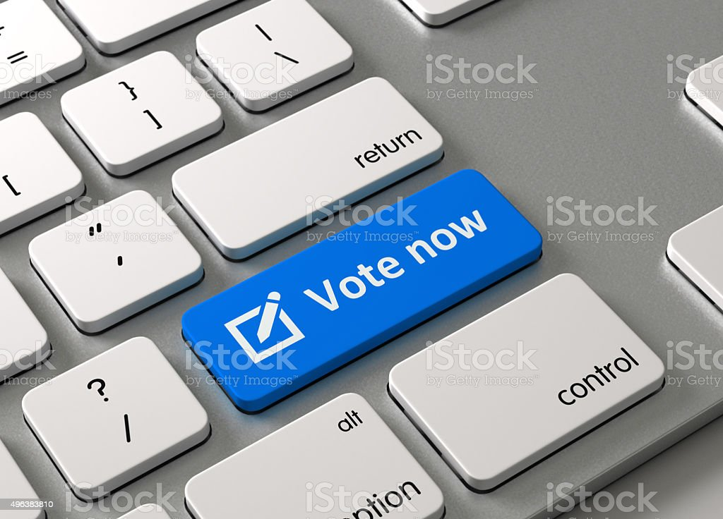 Vote now stock photo