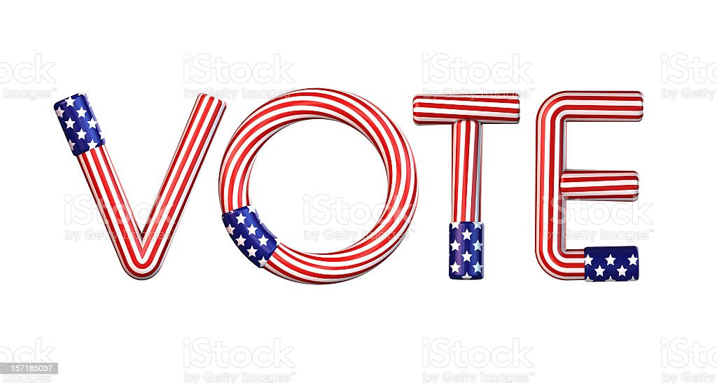 Vote royalty-free stock photo