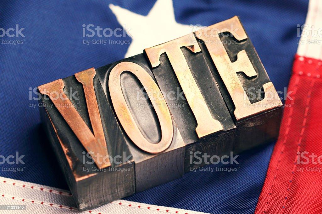 Vote. stock photo
