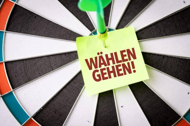 vote (in german) - presidential debate стоковые фото и изображения
