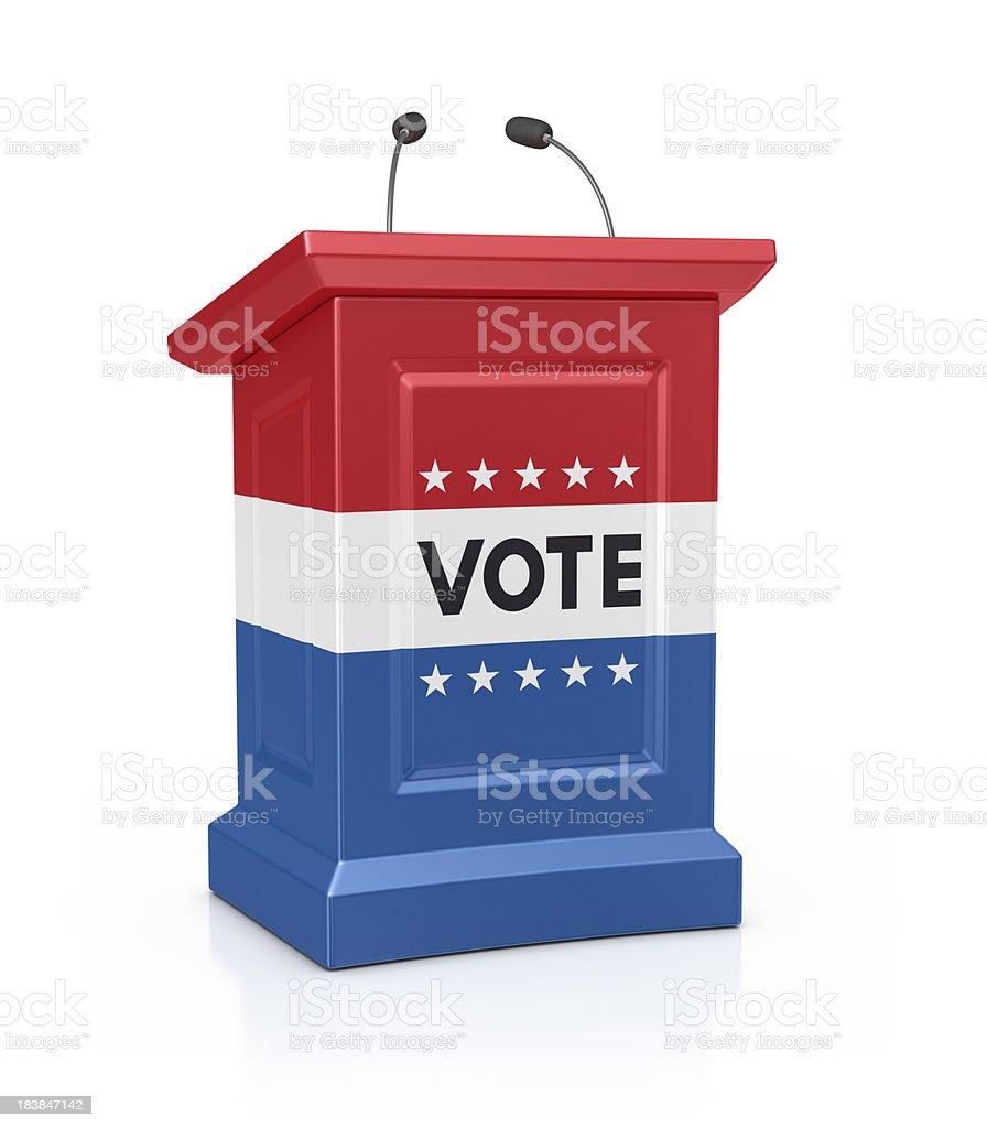 vote podium royalty-free stock photo
