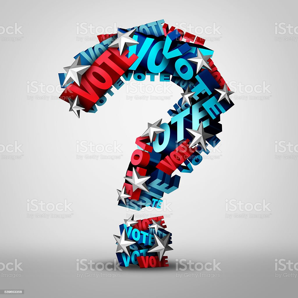 Vote Question stock photo