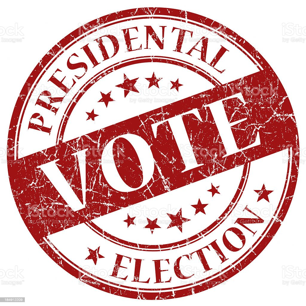 vote red round stamp royalty-free stock photo