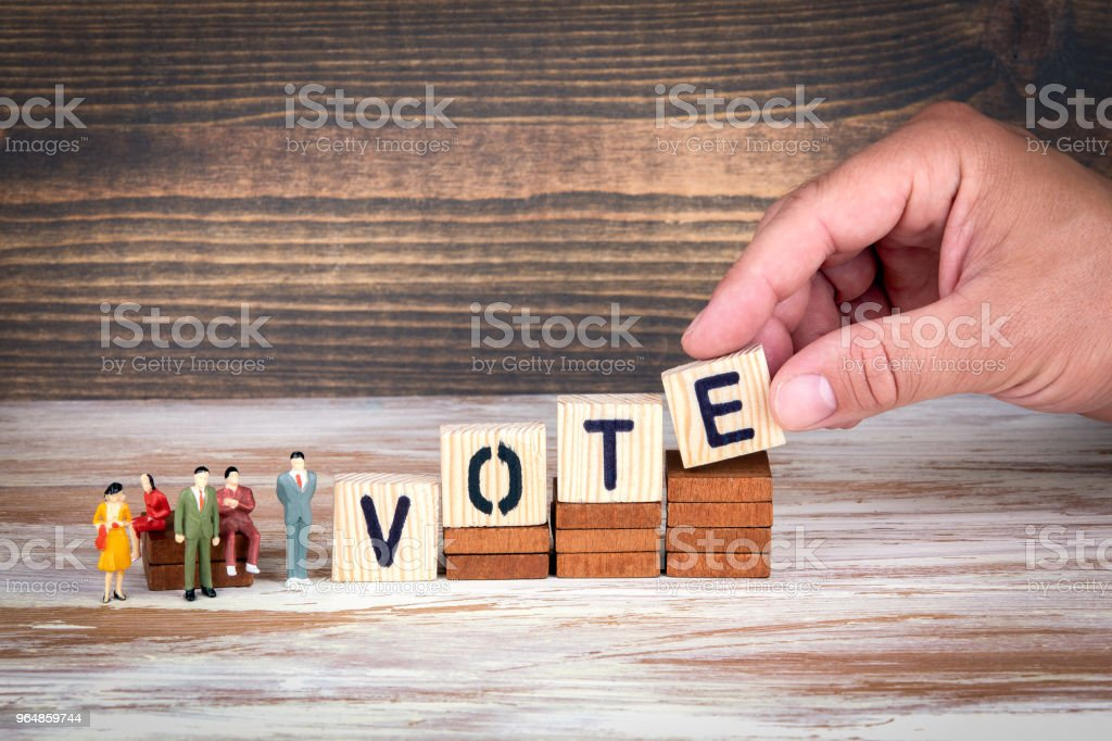 Vote, Survey and referendum. Business and Council Members royalty-free stock photo