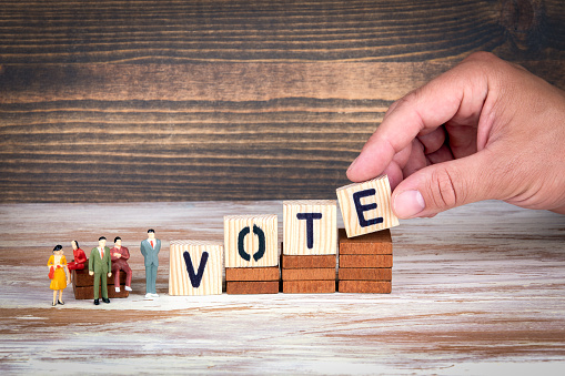 Vote Survey And Referendum Business And Council Members Stock Photo - Download Image Now